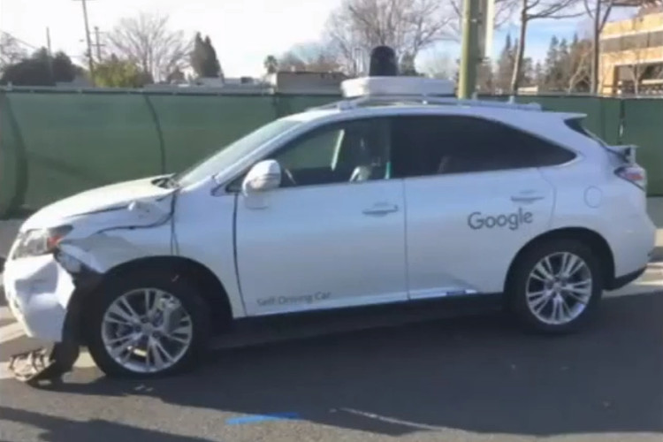 coche de google sin conductor accidente