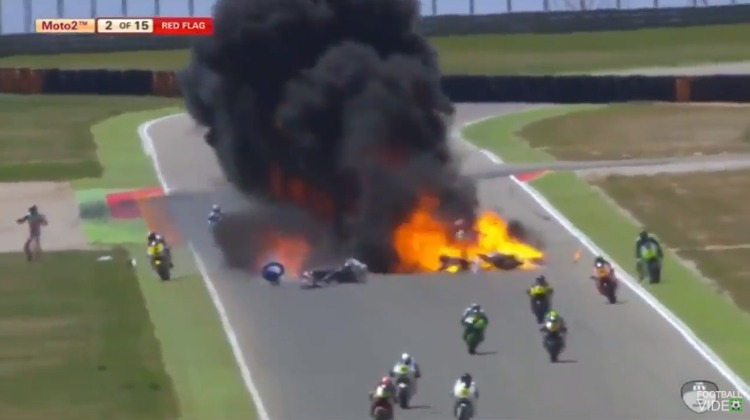 accidente motos explosion circuito motorland