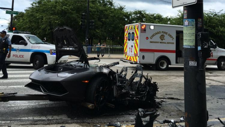 Lamborghini Huracan accidente chicago